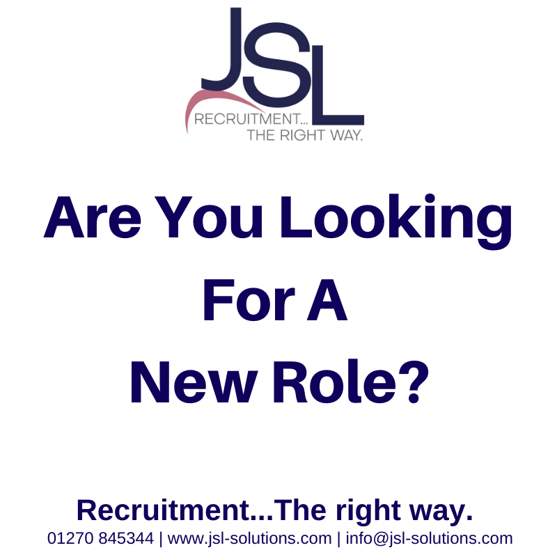 Are You Looking For A New Role?