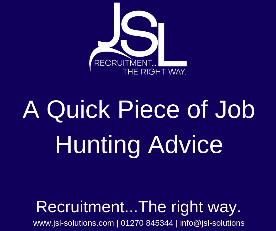 A quick piece of Job hunting advice