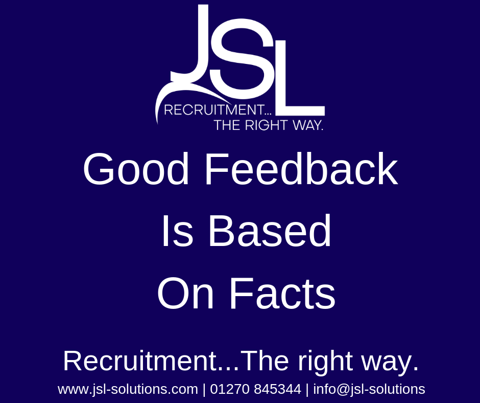Good Feedback Is Based On Facts