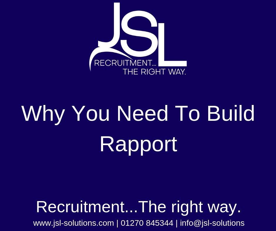 Why You Need To Build Rapport