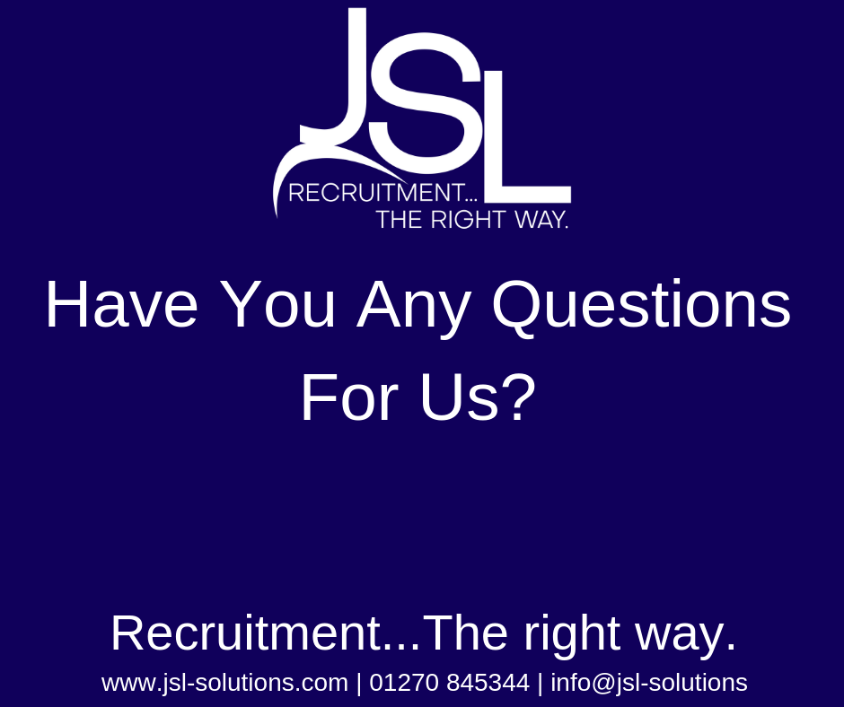 Have You Any Questions For Us?