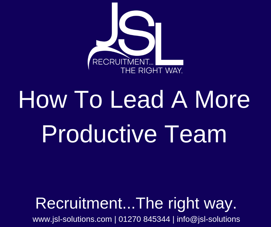How To Lead A More Productive Team