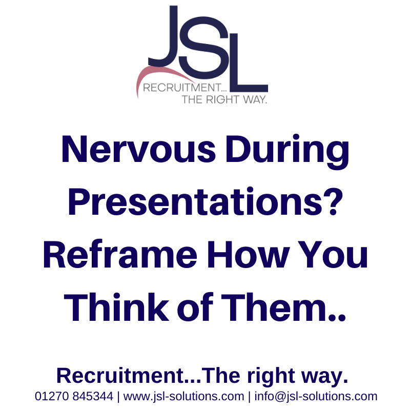 Nervous During Presentations? Reframe How You Think of Them..