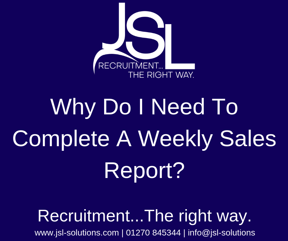 Why Do I Need To Complete A Weekly Sales Report?